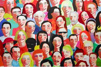 Mucha gente y pocas personas